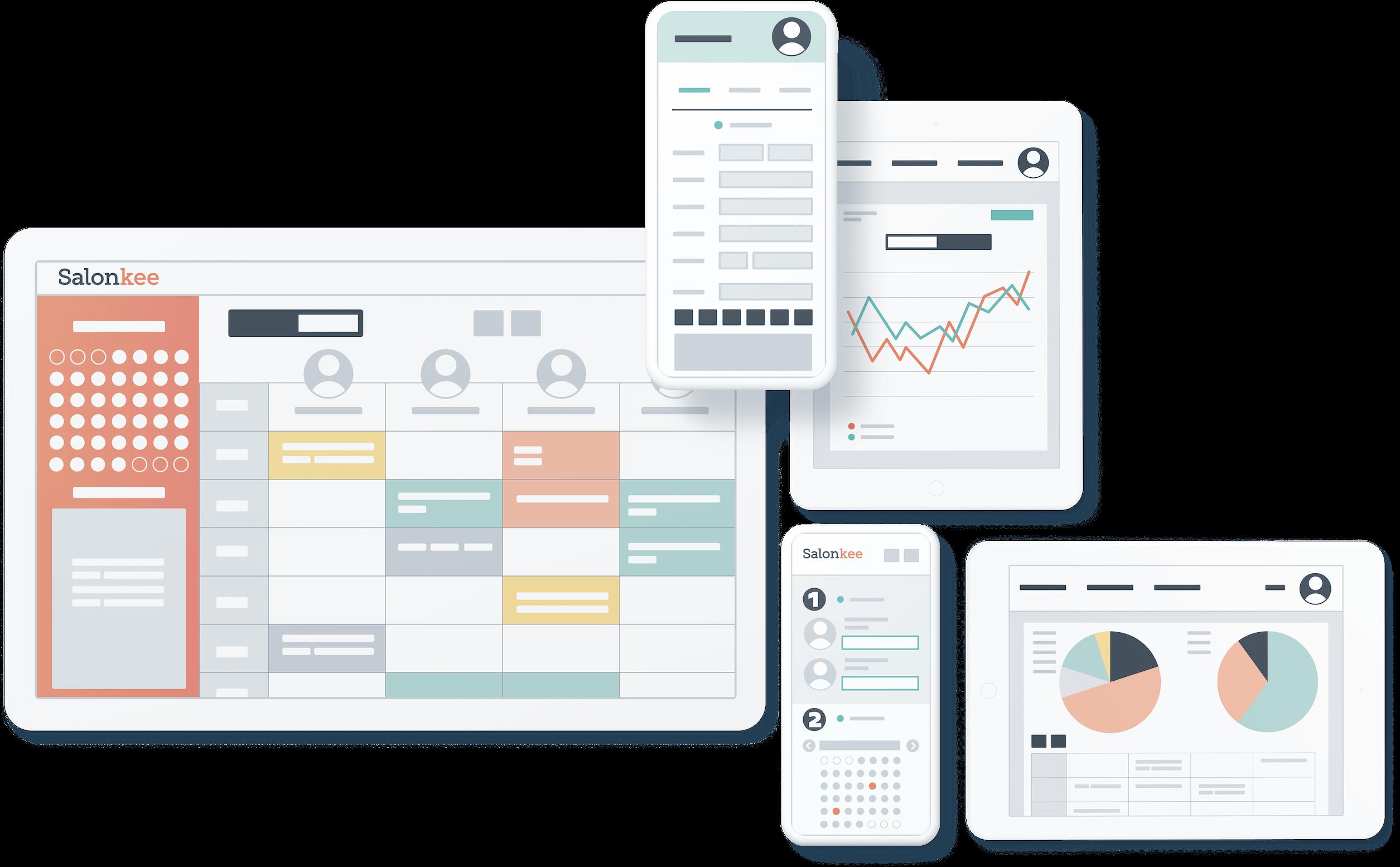 Salon-Software, Startseite